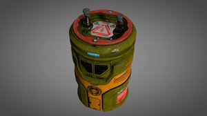 3D large cylindric battery