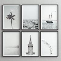 picture frames set -62 3D model