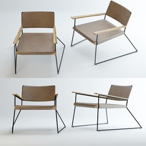 3D united-strangers-outlaw-lounge-chair