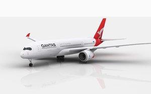 3D model airbus a350 qantas