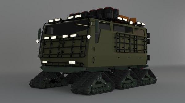 snow truck 3D model