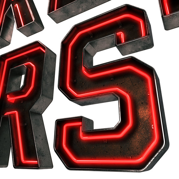 3D neon metal alphabet signage