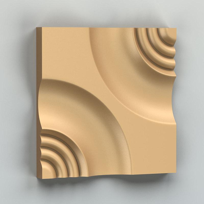 3D model decorative wall panel