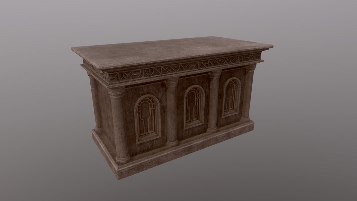 church altar 3D