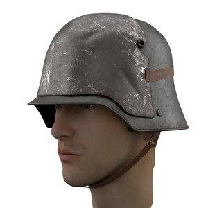3D german helmet stahlhelm m1916