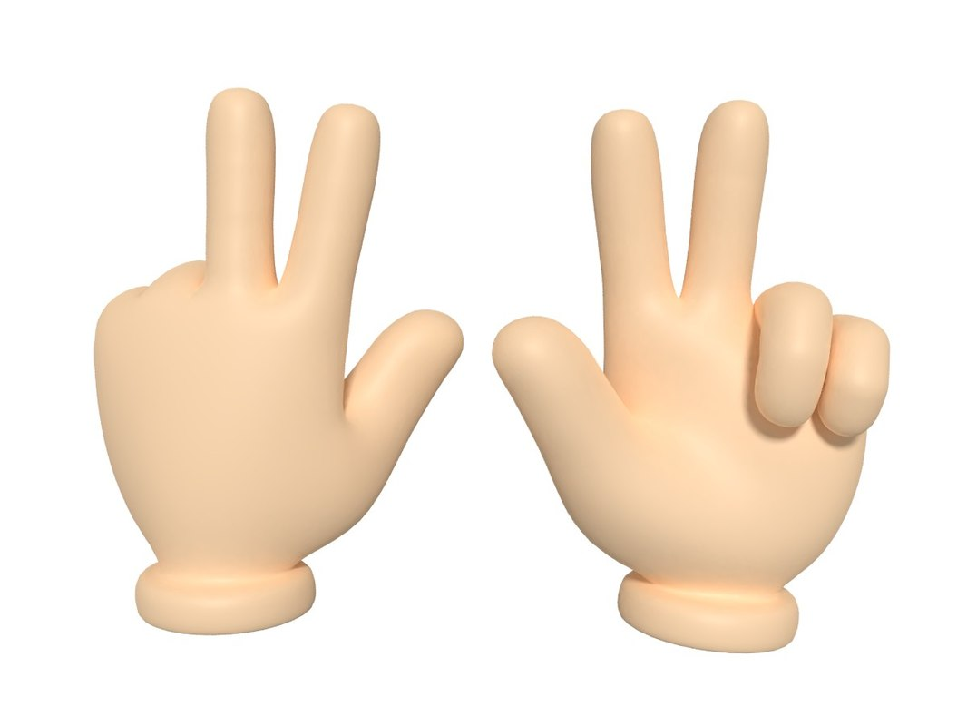 cartoon hand 3D model