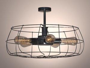 3D model loft ceiling fan
