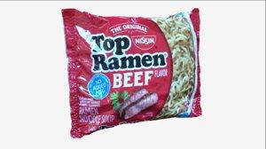 3D ramen food model