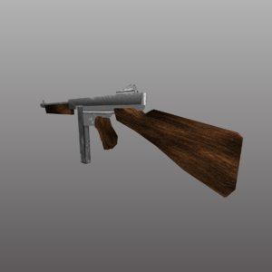 thompson m1a1 3D model