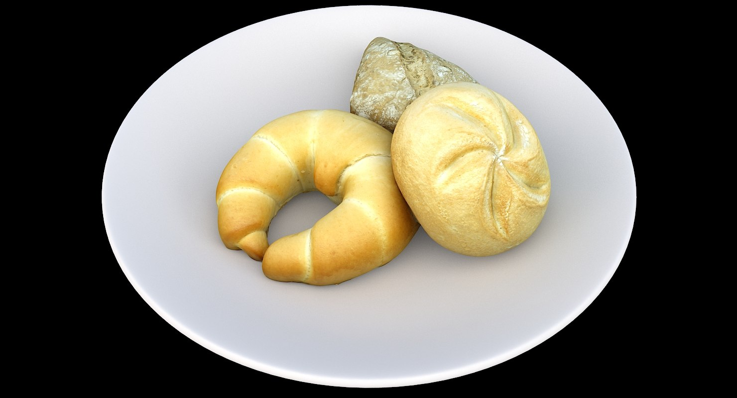 3D model biscuits plate