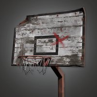 Old Basketball Goal 01a (PAP) - PBR Game Ready