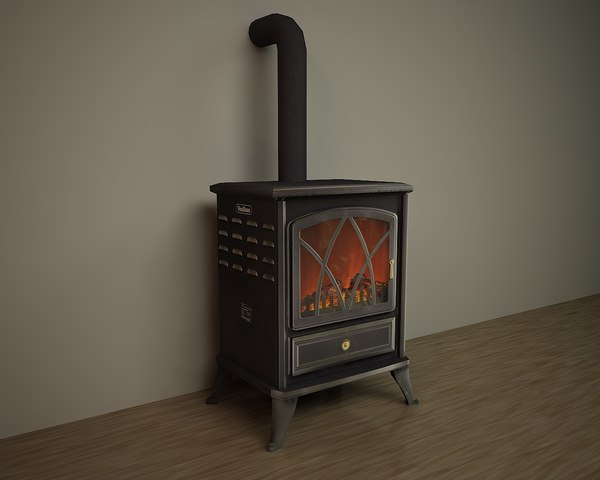 3D wood stoves