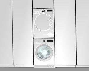 3D washing machine dryer condenser