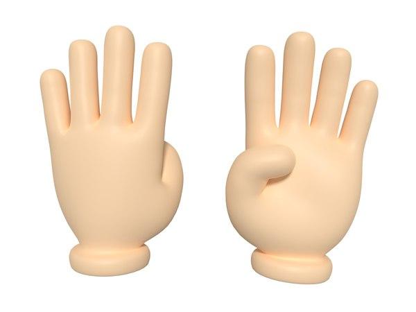 cartoon hand model