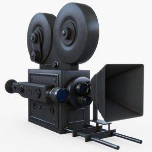 vintage movie camera 3D model