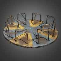 Old Merry Go Round 01a (PAP) - PBR Game Ready