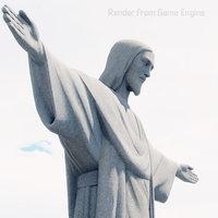3D christ redeemer cristo redentor