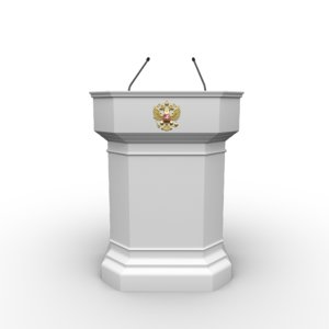 3D model tribune president putin speeches