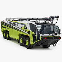 3D oshkosh striker 8x8 airport model