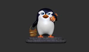 3D penguin clownfish model