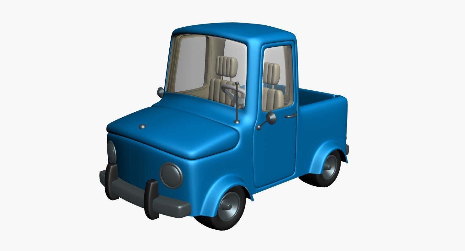 3D truck cartoon