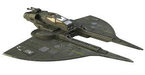 spaceship spacecraft 3D