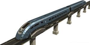 levitation train 3D