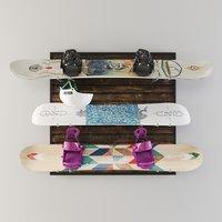 snowboard storage 3D model