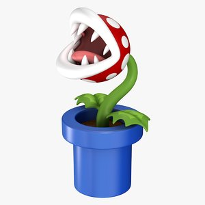 piranha plant super mario 3D model