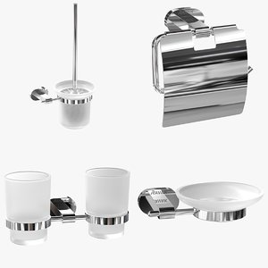 3D ravak bathroom accessories model