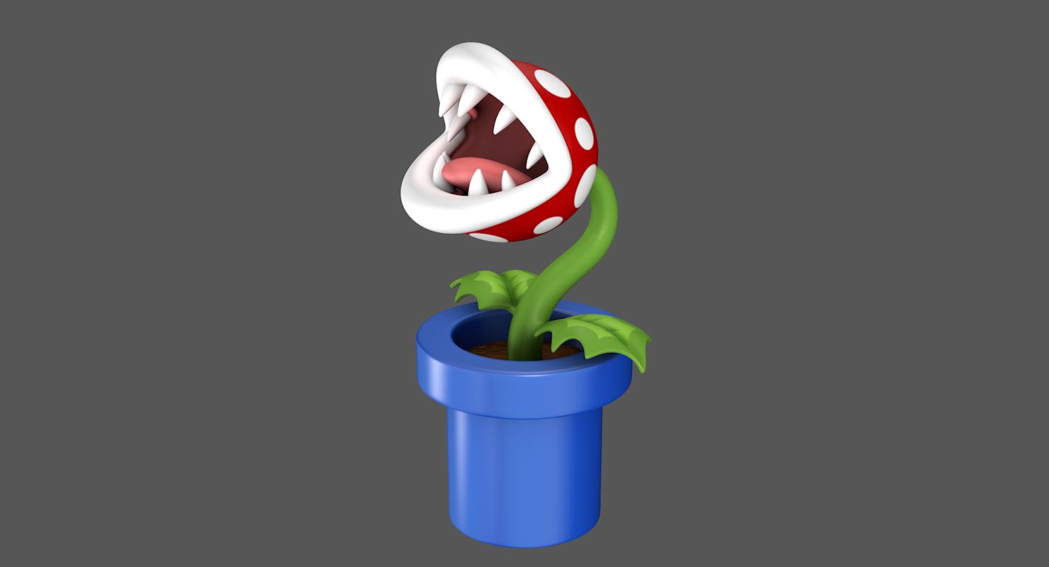 Piranha Pflanze Super Mario