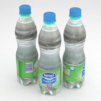 beverage bottle water 3D model