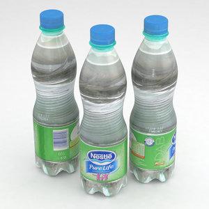 beverage bottle water 3D model
