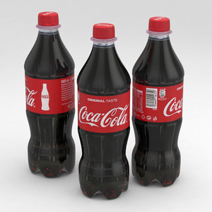 3D beverage bottle cola model