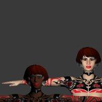 3D model rigged female pack
