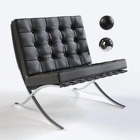 luxurious barcelona chair 3D model