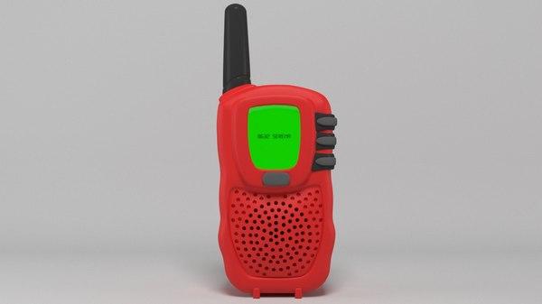 walkie talkie talk 3D model