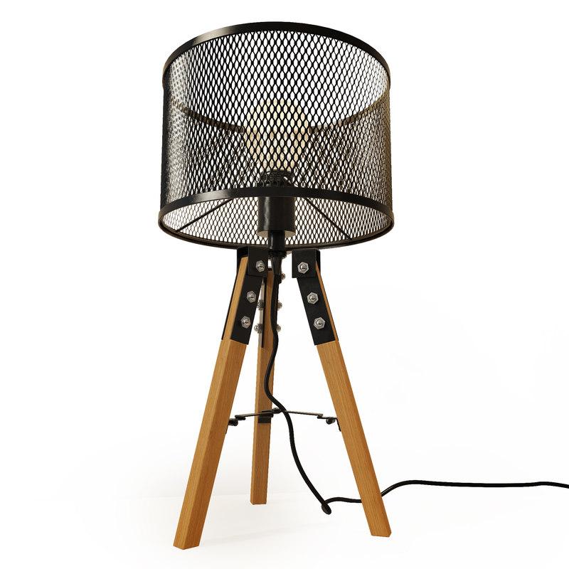 3D table lamp lucide aldgate