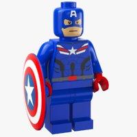 3D lego captain america