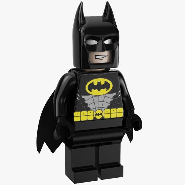 lego bat man 3D model