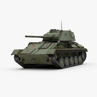 3d ww2 t80 light tank model