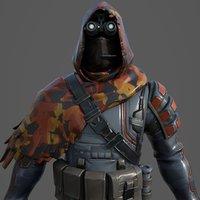 fortnite sniperhood 3D model