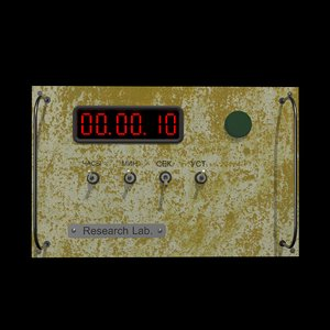 electronic timer panel 3D model