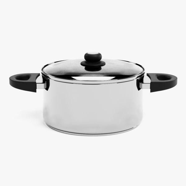 3D cooking pot model