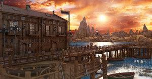 3D western dock port
