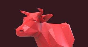 3D model cow sculpture printing