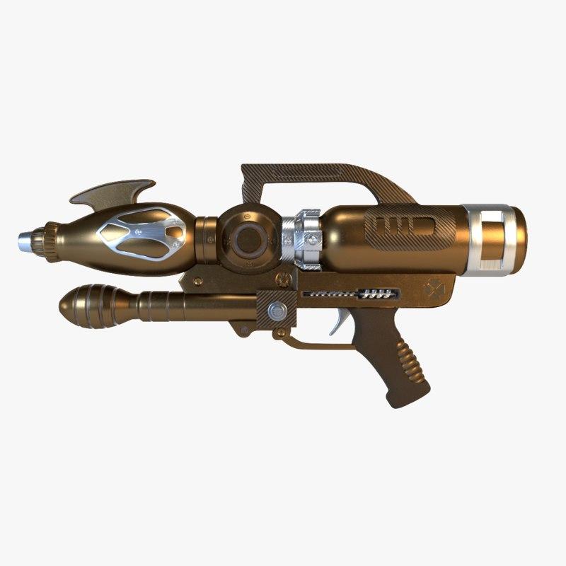 sci-fi gun model
