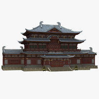 3D chinese ancient architecture