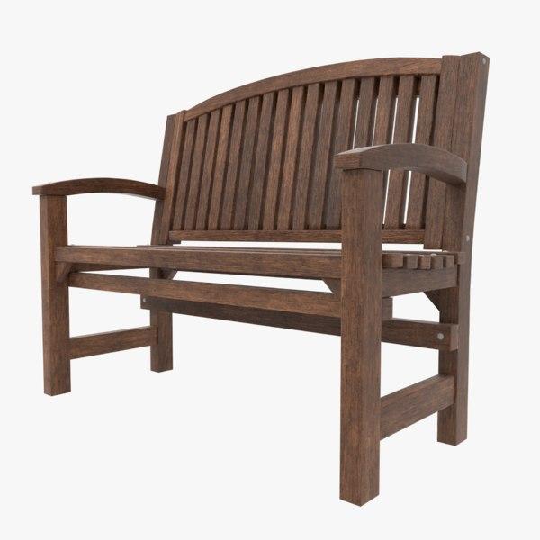 bench blender games 3D model