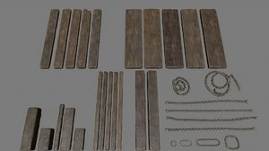 rope wood model